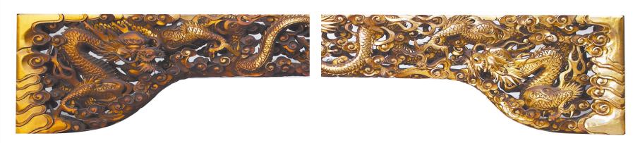 永年祀ったお仏壇の欄間部分